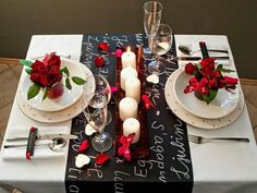 How to set a romantic table. Woo her with thoughtful details and the idea that you actually planned this.