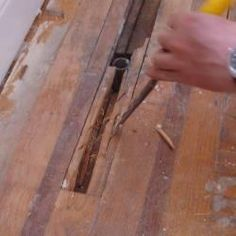 Patching hardwood floors...good to know for our rental houses!!