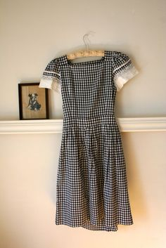 LOVE it! Black and white gingham outfit.