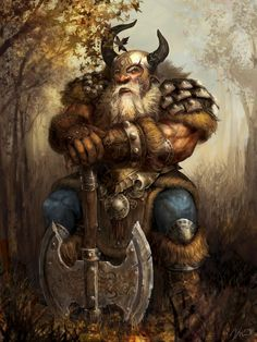 dwarf, axe, armor
