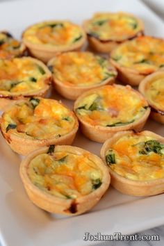 Spinach, Ham and Cheese Mini Quiche's from JoshuaTrent.com