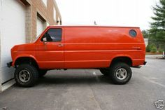 """van, Luke says, """"There it is!!!"""" He has always said he would love to have a big van with a bubble window."""