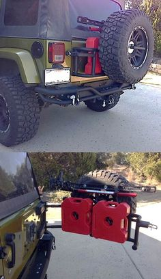 New bumper, and tire carrier with rotopax and jack mount.