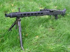 """MG-42 or """"Hitlers Buzz saw"""" was a machine gun that could be belt fed or drum mag fed and shot about 1,200 rounds in a minute!"""
