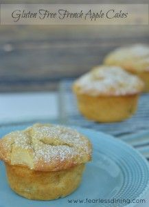 Gluten Free French Apple Cakes http://fearlessdining.com #glutenfree #applecakes #Frenchpastry