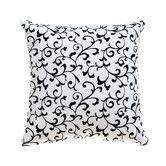 "Found it at Wayfair - Sava 18"" Pillow in White / Black 26.00"