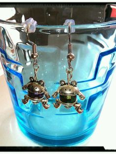 Ohrringe - Frosch Multicolor Pearl - Ohrhaken
