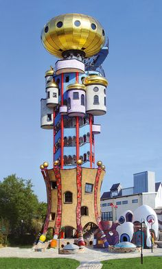 The Hundertwasser tower in Germany