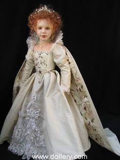 Susan Krey Collectible Dolls...Queen Elizabeth I of England