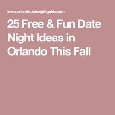 best date ideas orlando