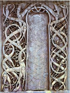 The Carved doors at the Urnes Stave Church, Western Norway c.1070