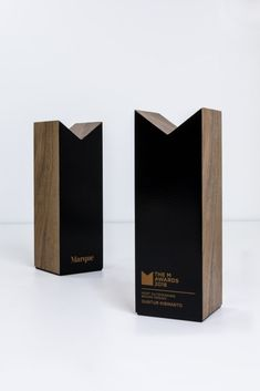 The M Awards | Marque Branding | Custom made by Design Awards | Salvaged Australian sustainable timber | #modern #sustainable #trophy