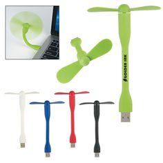 Mini USB Two Blade Flexible Fan - $2.25/each