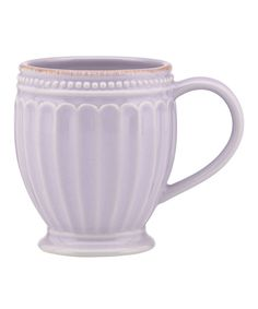 Look at this Lilac French Perle Groove Mug on #zulily today!