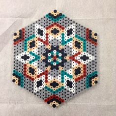 Geometric design perler beads by wheresthemaid