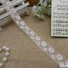 12yard organza floral daisy Lace fabric Trim DIY handcraft dress cloth L766 - #dress, #floral, #handcraft, 12yard, Cloth, Daisy, fabric, L766, Lace, Organza, trim