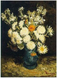 Vincent van Gogh: Flowers in a Blue Vase; Paris, France; 1886-87.