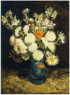 Vincent van Gogh: Flowers in a Blue Vase; Paris, France; 1886-87.