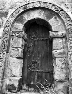 Church door dating to 670AD – By Alison