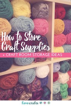 How to Store Craft Supplies + Craft Room Storage Ideas - Learn how to store paint, how to store paper, and more in this full craft room organization and storage how to.