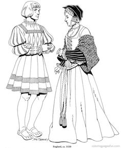 Medieval Fashions Coloring Book (Dover Fashion Coloring
