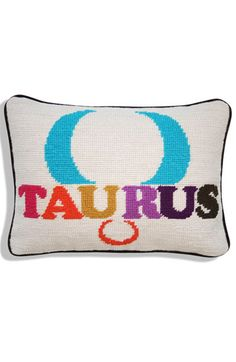 zodiac needlepoint pillows