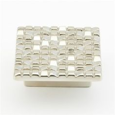 Italian Designs Group Mosaic Square KnobFor contemporary spaces with a touch of European luxury.The Mosaic Collection brings excitement to any environment with clean lines. Die cast construction. M-4 metric screws included.