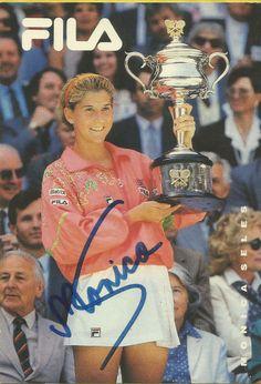 Monica Seles Monica Seles, Wta Tennis, Tennis Stars, Shake Hands, World Of Sports, Tennis Players, Sports Women, Magazines, Game