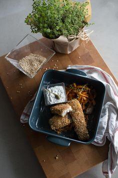 pescado rebozado en quinoa
