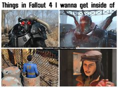 falloutaddicted:  Things in Fallout I Wanna get Inside Of (Part 2)  Heres part 1.Follow me on Facebook!