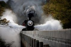 *The Mighty Steam Engine~ my father was a train engineer, he would Love this photo. Train Tracks, Train Rides, Old Steam Train, Choo Choo Train, Train Pictures, Old Trains, Steam Engine, Steam Locomotive, Hd Wallpaper
