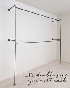 Double Pipe Garment Rack