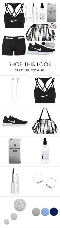 """Gym Style 💪💪💪"" by iris913 ❤ liked on Polyvore featuring Forever 21, Ivy Park, NIKE, OY-L, BBrowBar, Topshop, Burberry and Priti NYC"