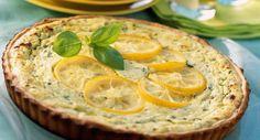 Quiche à la ricotta et au citronVoir la recette de la Quiche à la ricotta et au citron >> Quiches, Quiche Ricotta, Salty Tart, Recipe Filing, French Food, Muffins, Menu, Cooking, Gourmet