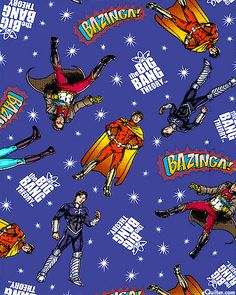 The Big Bang Theory - Heroes in Space - Quilt Fabrics from eQuilter.com