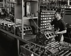 sonic testing the bores on Y Blocks ,,Geelong Australia Ford factory 1958