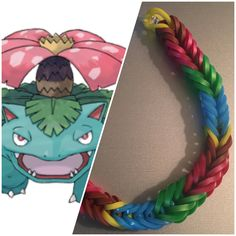 To round out the first set of grass starters, here's the almighty Venusaur, now available in my shop! Be sure to check out the link in my bio to find him and his pre-evolutions as well! Rainbow Loom Bracelets Easy, Rainbow Loom Fishtail, Pokemon Party, Pokemon Birthday, Monster Tail, Fishtail Bracelet, Rainbow Loom Creations, Rubber Band Bracelet, Etsy Coupon