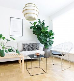 Interior styling by Heidi Forsell Nordic Living Room, Interior Styling, Bloom, Chair, Table, Furniture, Home Decor, Interior Decorating, Decoration Home