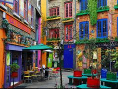 Colourful street