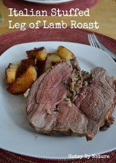 Italian Stuffed Leg of Lamb Roast (Grain & Dairy Free) - Gutsy By Nature