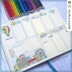 Check out this gorgeous #weeklyspread from @my.life.in.a.bullet. 1. I love the…