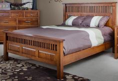 Bedroom. Elegant and Awesome Mission Bedroom Furniture Styles. Mission Style Bedroom Furniture with Wall Mounted Wooden Dark Brown Rectangle Lattice Platform Bed and Plum White Bed Sheet and also Rectangle Plum White Double Pillows plus Wall Mounted Wooden Dark Brown rectangle Nine Drawers Dresser