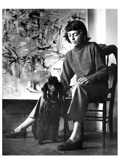 "When asked why she painted, Mitchell replied to biographer Marion Cajori, ""…because I don't exist anymore—it's wonderful. I've always said it's like riding a bike with no hands.""""     —the Joan Mitchell Foundation (emphasis mine)"