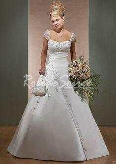 Robe de Mariée Avec Bretelles-A-Line/Princess sweetheart train satin des robes de mariage