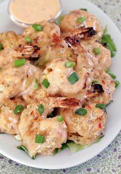 Bang Bang Shrimp - A copycat restaurant recipe for Bang Bang Shrimp #shrimp #recipes #healthy #food