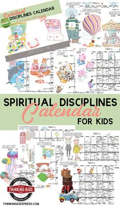 The Spiritual Disciplines Calendar for Kids will help your kids develop lifelong spiritual habits! Bible Crafts For Kids, Bible Lessons For Kids, Homeschool Curriculum, Homeschool Kindergarten, Kids Calendar, Spiritual Disciplines, Parenting Articles, Christian Parenting, Christian Life