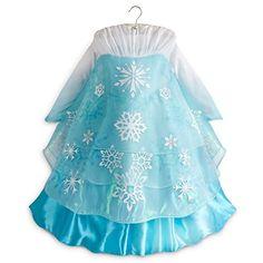 Disney Store Frozen Deluxe Elsa Costume Dress 5/6