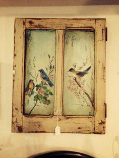 Peinture sur vieille porte