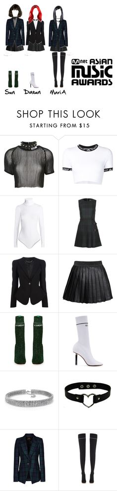 """MAMA 2016 Perfomance [FREE + Move On]"" by starz-official ❤ liked on Polyvore featuring The Ragged Priest, UNIF, Wolford, McQ by Alexander McQueen, Alexander McQueen, Alice In The Eve, Vetements, Bling Jewelry and Vivienne Westwood Anglomania"