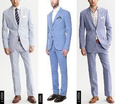 ligth blue suit beach wedding - Google Search